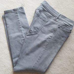 Gray loft jeans